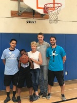 Laguna Branch Boys & Girls Club Staff with RJ and Barbara McMurray who help facilitate RJ's week at the Canyon Branch