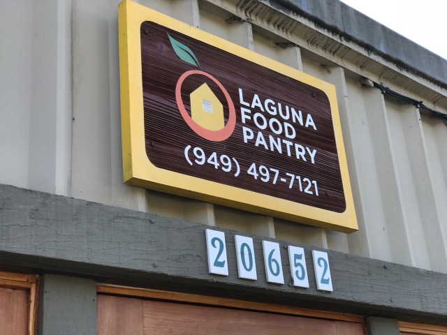 Laguna Food Pantry sign 2018