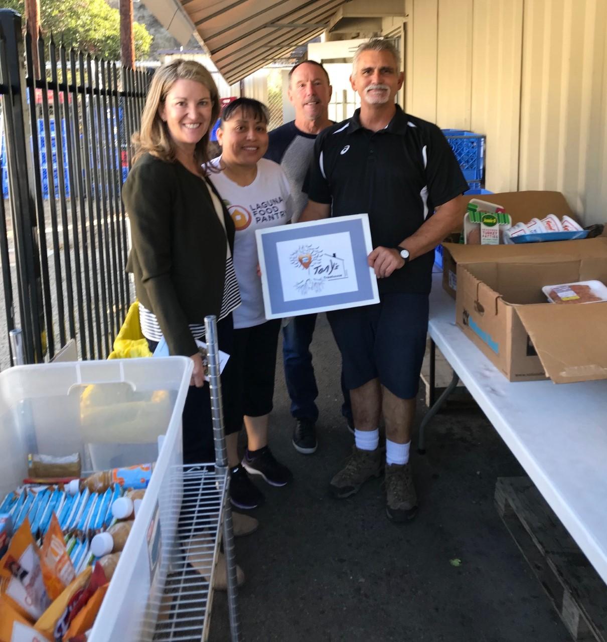 Laguna Food Pantry Volunteers with Anne Belyea 11.06.2018