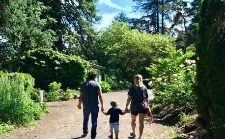 Jorge, Alessandro,Becky 2017 Portland Rose Garden