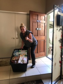 Tanya, an annual supporter, dropping off gifts